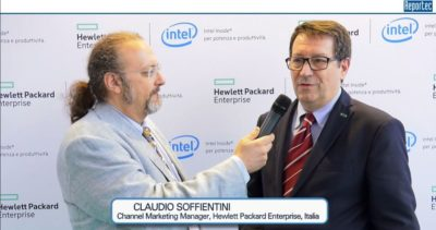 video intervista a Claudio Soffientini, channel marketing manager HPE Italia